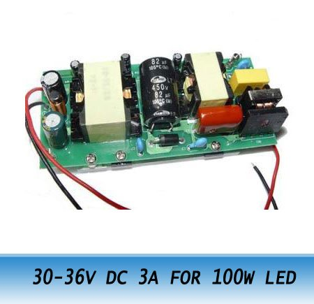 High Power Electronic Driver 85-265V AC, 30-36V DC 3A FOR 100W LED Light LAMP Free shipping