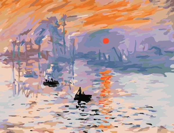 Frameless impressed hand painting landscape painting murals decorative painting the impression of the sunrise G252(China (Mainland))