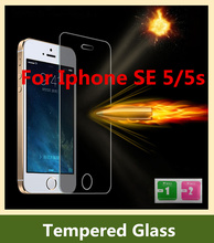 Ultra Thin 0.3mm Explosion Proof Premium Tempered Glass Screen Protector Anti-scratch Protective Film For Apple iPhone SE / 5 5S