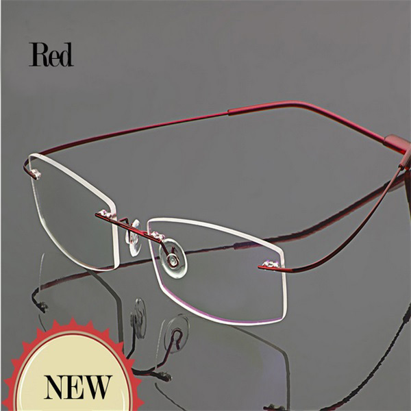 rimless frames titanium flexible eyeglass women optic ...