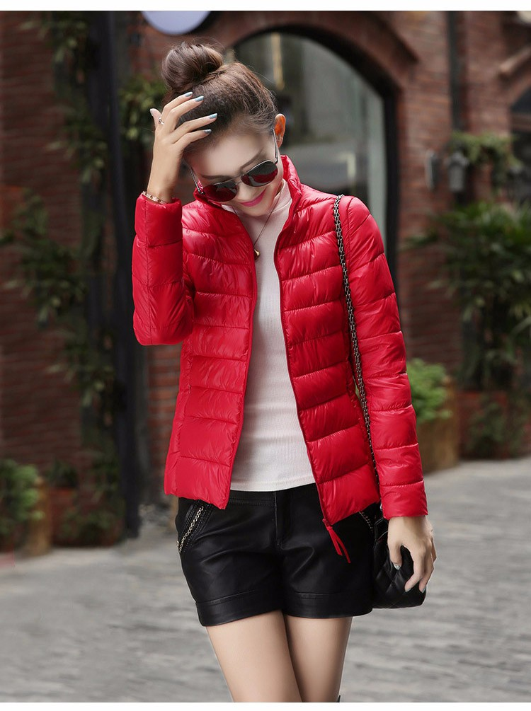 YOFEAI 2016 Ceketler Kadın Moda Yastıklı Aşağı Parka Kış Ince Aşağı Ceketler Sıcak İnce Paltoları Kadınsı Kadınlar artı boyutu