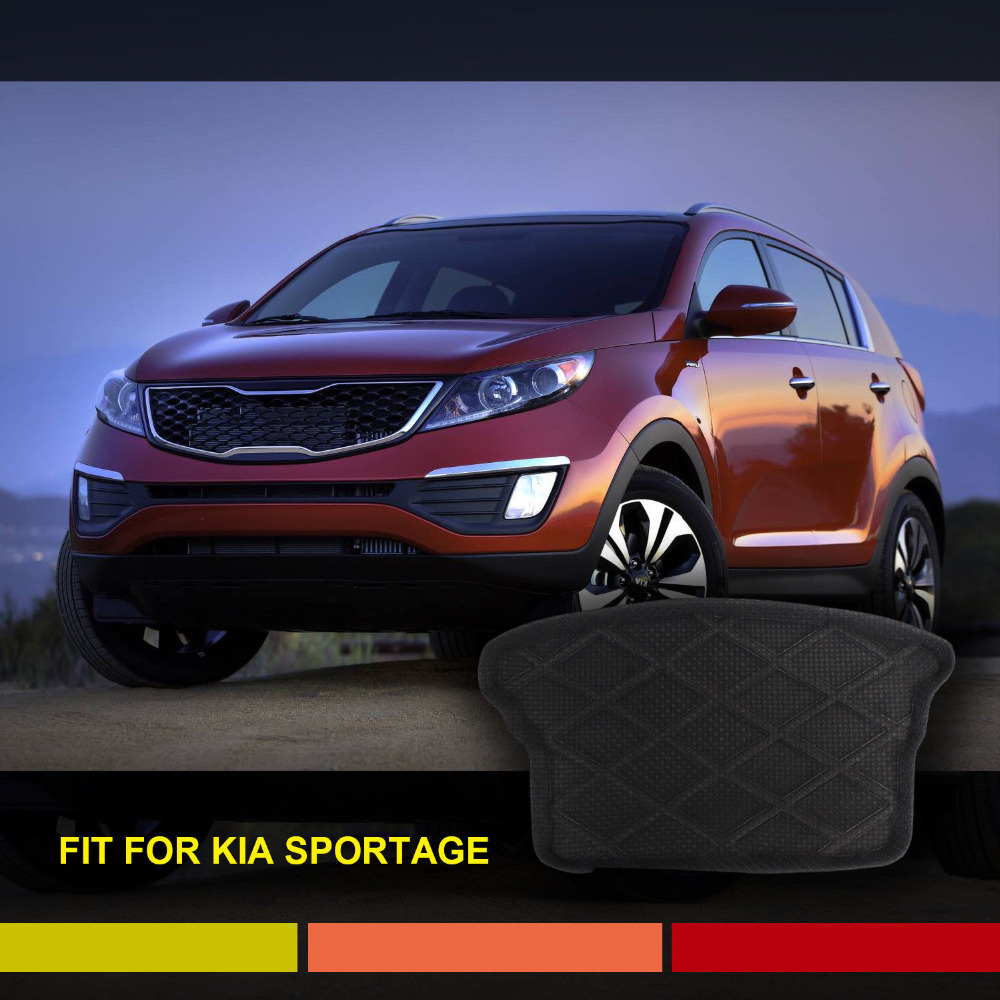 3D Boot Liner Rubber Cargo Mat Suitable For KIA Sportage Black Washable Non Skid Rubber Car Mat Floor Protector(China (Mainland))