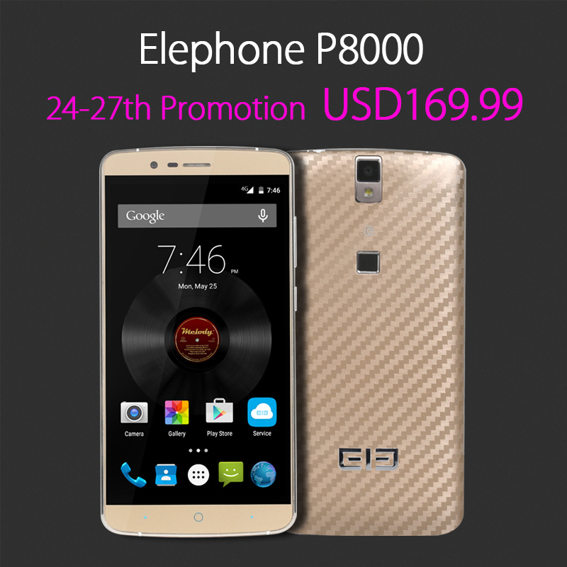 Promotion ! Elephone P8000 3G RAM+16G ROM MTK6753 64-Bit 8-Core Android 5.1 5.5inch FHD Screen 4150mAh Battery Mobile Phone(Hong Kong)
