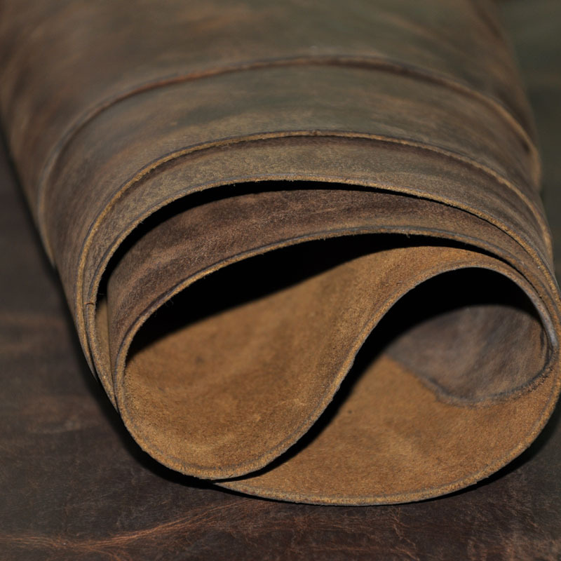 Wax horse leather thick genuine leather raw material diy leather 1.8-2.0mm 2011005(China (Mainland))