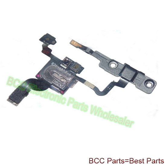 20pcs/lot for iphone 4 4G Proximity Light sensor power flex Cable with speaker and bracket for power on/off switch button key
