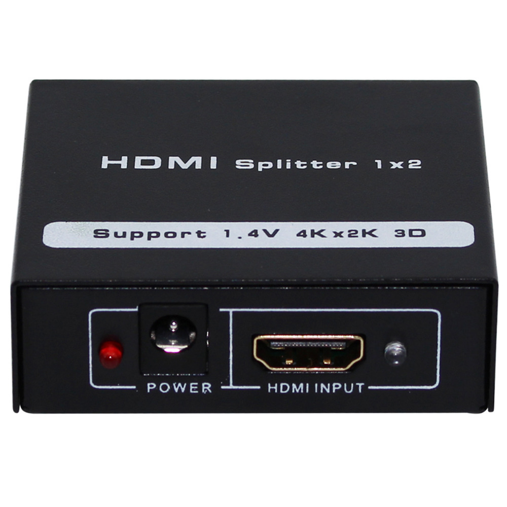 3 PCS NEW HDMI SPlitter 1X2 Split Full HD 3D 1.4V 1 HDMI input to 2 HDMI output with power cable For Audio HDTV 1080P Vedio DVD(China (Mainland))