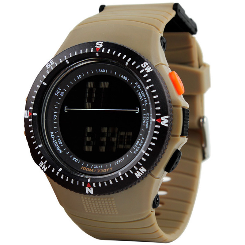 free shipping by hk post Skmei 0989 5ATM Water Resistant Digital Sports Mens Watch EL back Light with Soft Plastic Strap(China (Mainland))