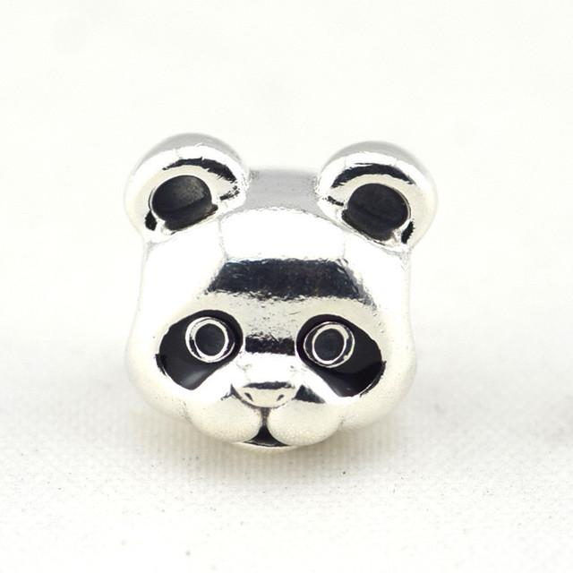 Осень стиль серебряные ювелирные изделия 925 мирное панда бусины Fit пандора оригинальный подвески браслеты DIY ювелирных украшений