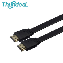 Flat Shape Portable Fold 1.5M 3M 5M 10M HDMI Cable 1.4V 1080P 3D Gold Plated Plug Male-Male Full HD M/M Braid for HDTV XBOX PS3(China (Mainland))