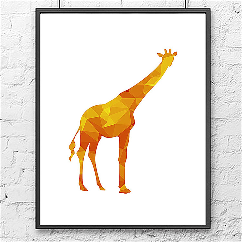 Cotill Geometric The Giraffe Canvas Printing Wall PicturePoster Home Decorative Pictures On The Wall Decor Art No Froam(China (Mainland))