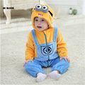 Brand Baby Clothing 100 Flannel Winter Baby Jumpsuit Romper For Girl Boy Soft Minion Hello Kitty
