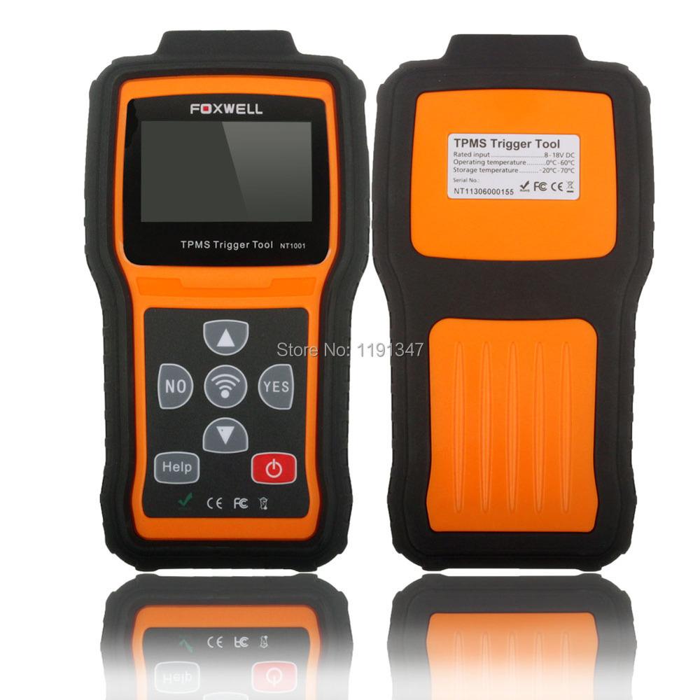 Foxwell NT1001 TPMS Trigger & Diagnostic Tool OBD2 Universal TPM Sensor Decoder DHL Free Shipping(China (Mainland))