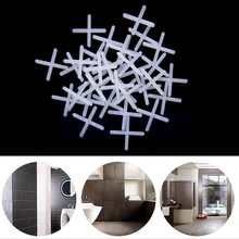 100X Practical Tile Spacers, Floor, Wall, Tiling, Grouting,Plastic,Cross, 2mm  HG2748(China (Mainland))