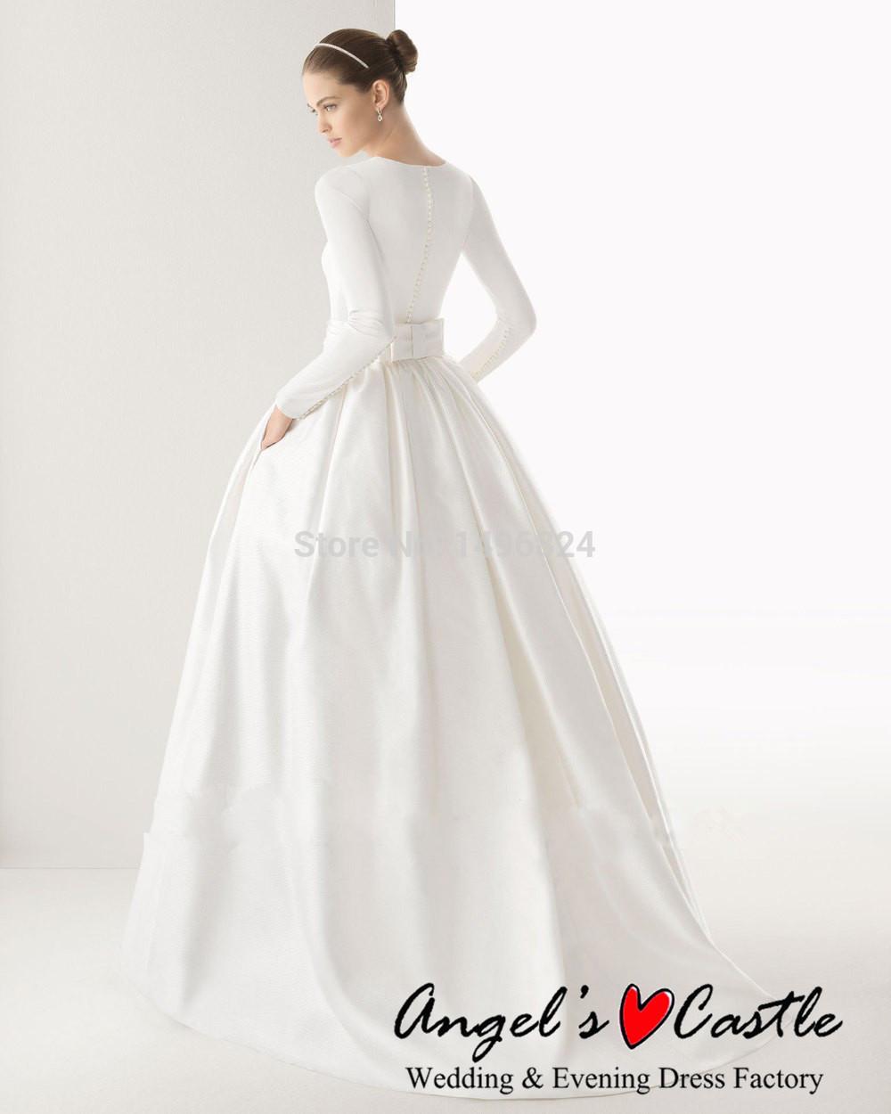 Muslim Wedding Dress Code For Bride : Wedding dress white vintage plus size muslim hijab dresses