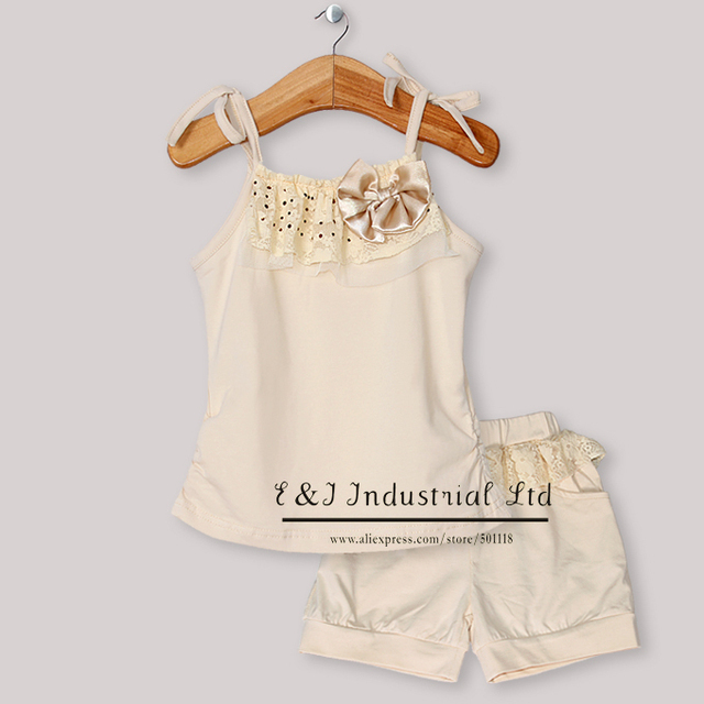 New 2013 Baby Summer Clothes Set For Girls Children Clothing Set T Shirt And Pants For Kids Wear Free Shipping CS30301-57^^EI