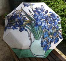 Buy Van Gogh Famous Painting Umbrella Personality Anti un sunscreen Rain umbrellas 3 fold umbrella iris for $11.99 in AliExpress store