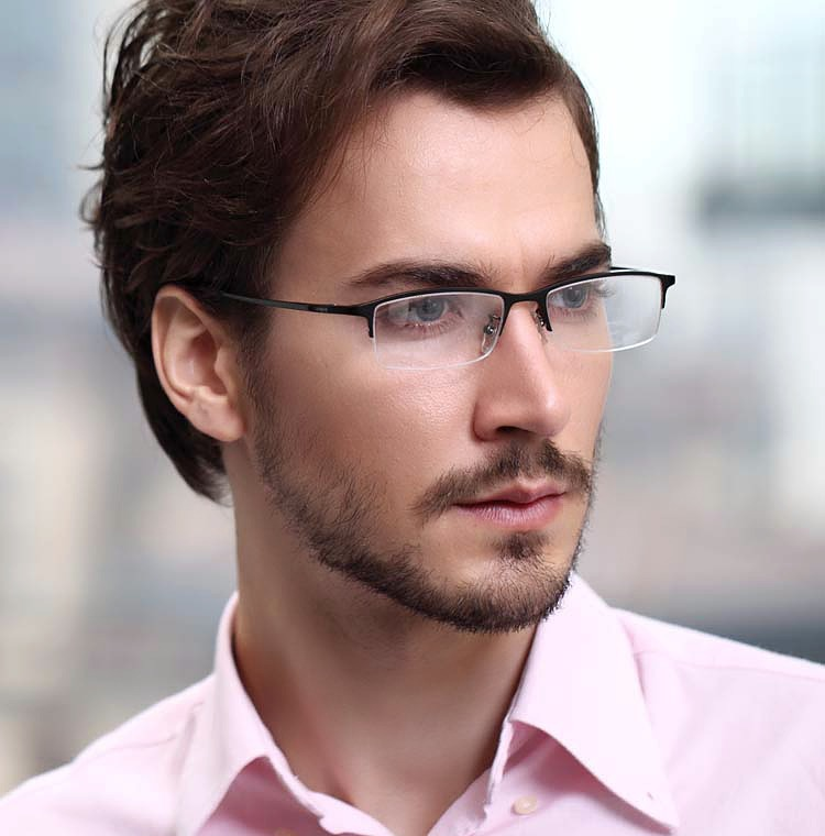8906 Pure Titanium Glasses Businessmen Fashion Optical ...