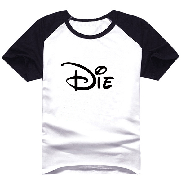2015 Emoji Die Logo Mens Raglan Short Sleeved Fun Letter Print T Shirt Man Clothes Boys Clothes S - XXXL Mimic Brand Top Tees(China (Mainland))