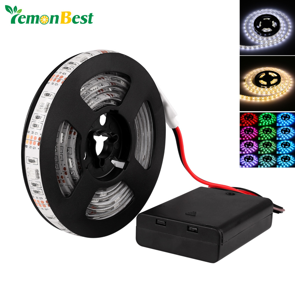 0.5M/1M/2M RGB/Warm/Cool SMD 5050 LED Strip Light Waterproof String Lamp RGB Led Strip 5050 Tiras Led fita luz led stripe Tape(China (Mainland))