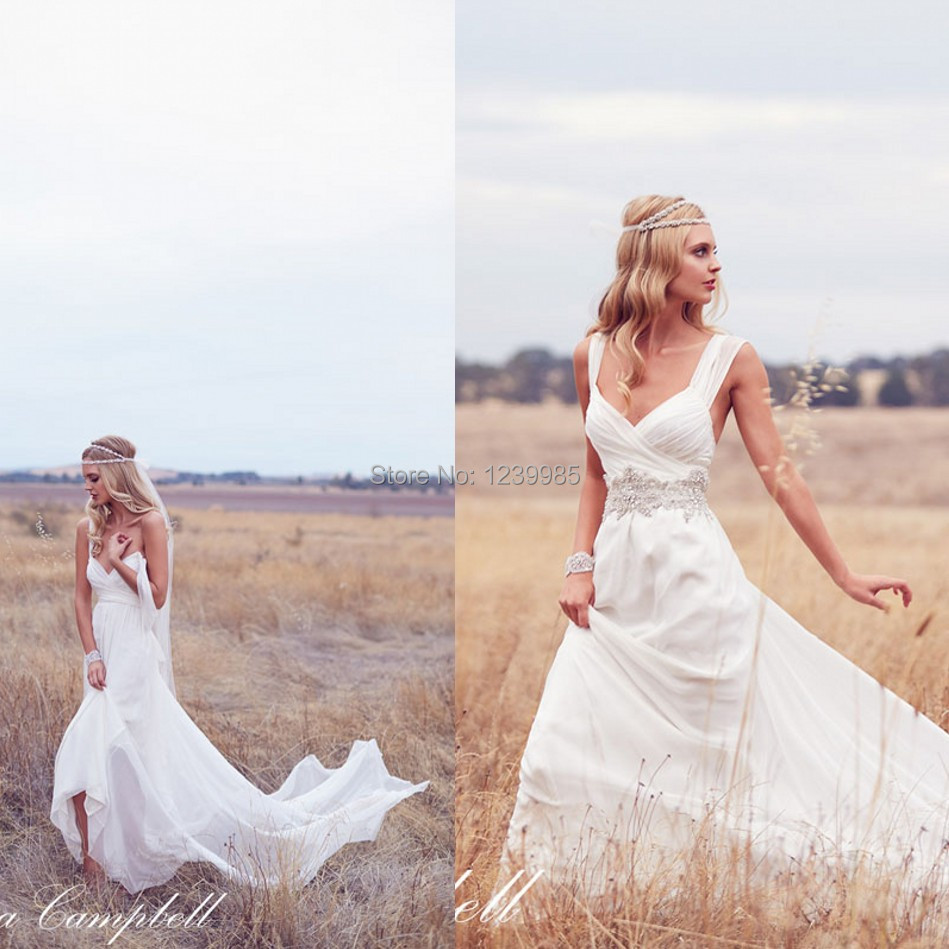 RW002 New Arrival Bohemian Chiffon Beach Wedding Dresses