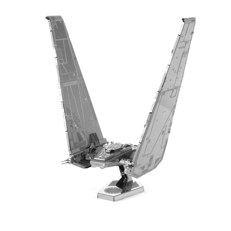 Star Wars 3D Metal Puzzles Laser Cut Jigsaws DIY Metal Model Educational Toy Star Wars First Order KYLO REN'S Command Shuttle(China (Mainland))