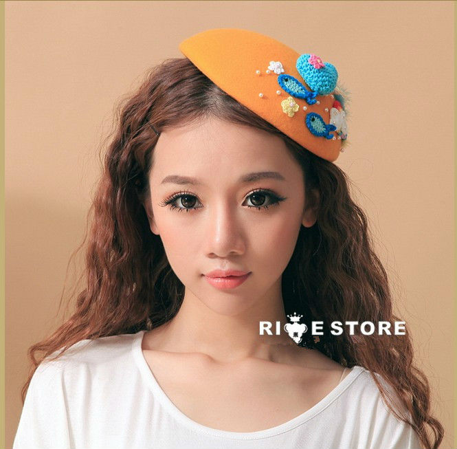 High Quality 2013 New Winter Hot Selling Fashion Women Lady Hat 100 Wool Vintage British Style