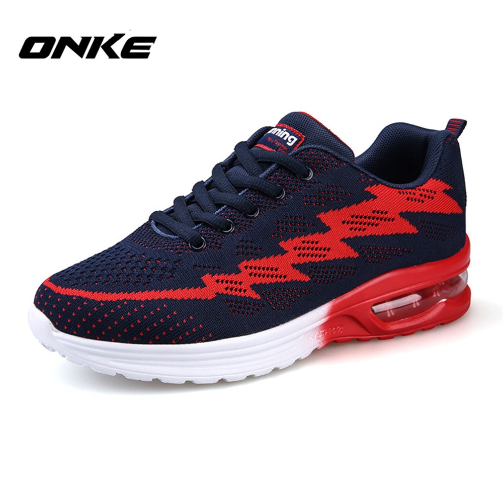 Onke New Men Running Shoes Cushion Breathable Mesh Women Sneakers Lovers Sport Shoes Outdoor High Quality Zapatillas Man Shoes(China (Mainland))