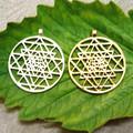 Sri Yantra pendant Silver plated necklaces pendants for women