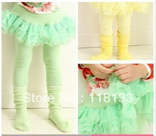 2013-spring girl tutu skirt sweet colourgauze skirt veil skirt culottes girl leggings baby pantskirt
