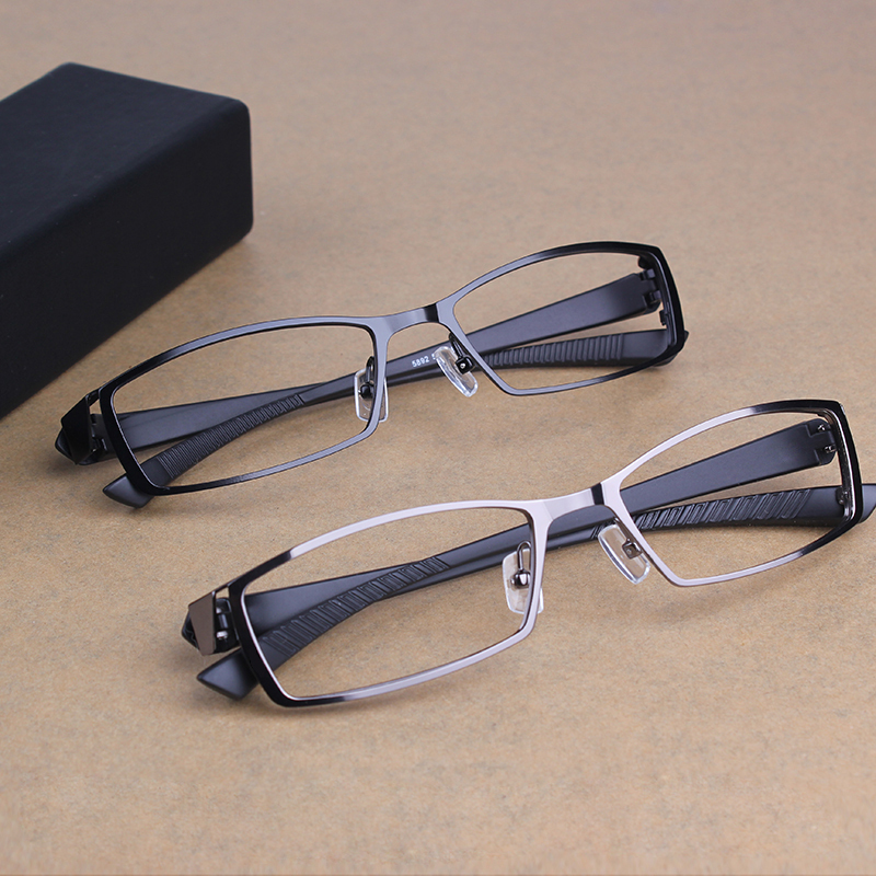 2016 Titanium Alloy Metal Eyeglasses Frames Men Commercial Eye glasses Frame Myopia Prescription Eyewear Optical glasses oculos(China (Mainland))