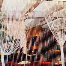 Nouvelle arrivée fenêtre rideau de porte passage mariage toile de fond 30 metros guirlande brin acrylique cristal perles rideau(China (Mainland))