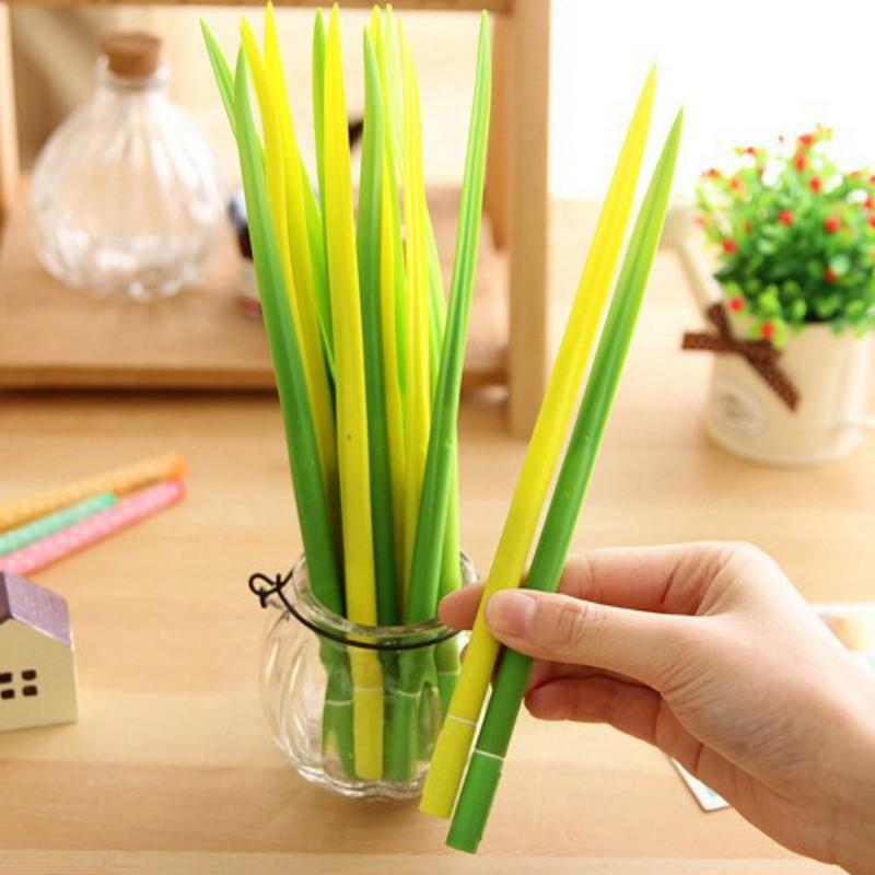 12pcs/lot Cute Grass style gel pens for writing Korean creative pens for kids kawaii stationery office school supplies escolar<br><br>Aliexpress