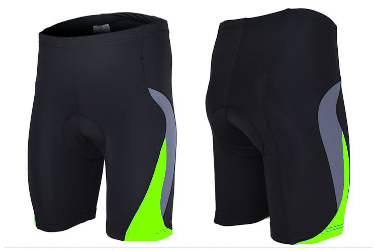 New 2015 Fluo Green Cycling Shorts Riding Clothes With Gel Pad Shorts Fitness Maillot Cicismo Ropa De Bicicletas Bike Clothing(China (Mainland))
