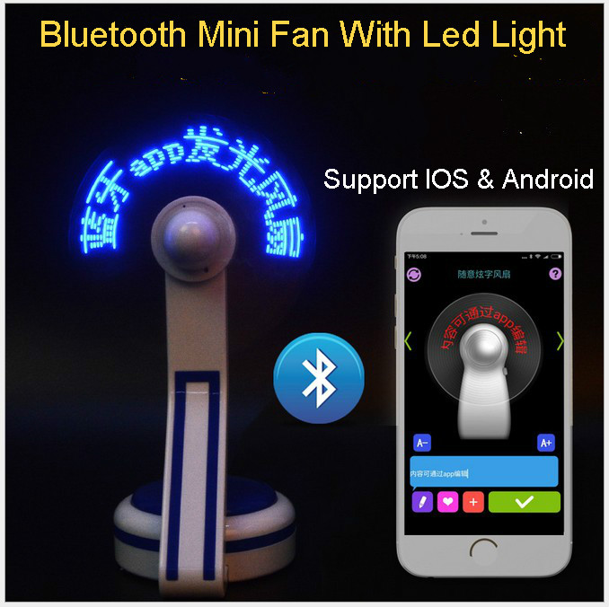 Bluetooth USB Mini Flexible Time LED Clock Fan with LED Light - Cool Gadget Free shipping Wholesale Store(China (Mainland))
