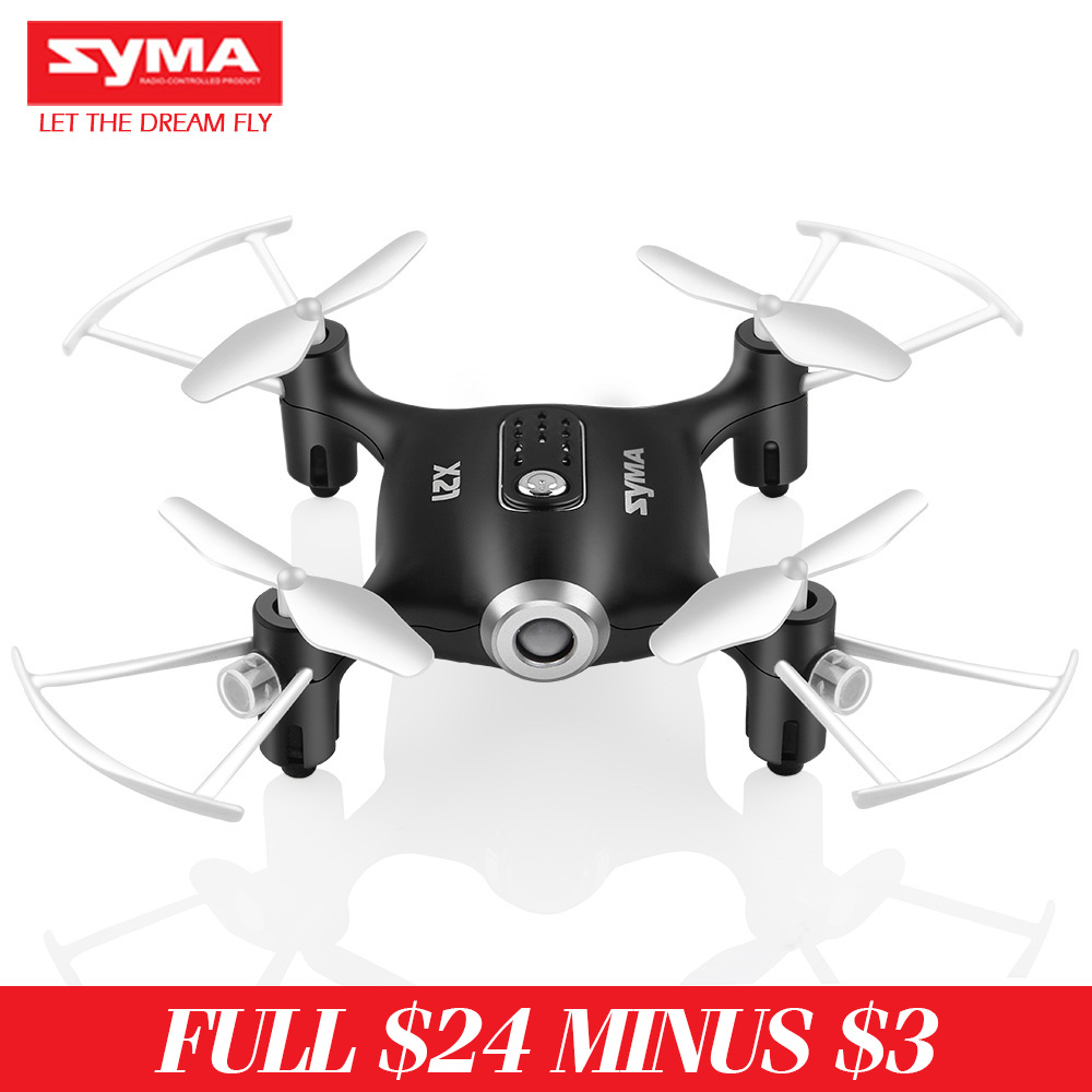 Mini Drone gps 2017 With Camera SYMA X20 2.4G 4CH 6-AIX Quadcopter Battery Operated Light Controller HD Helicopter Black White(China (Mainland))