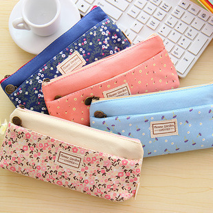 1 Pics Kawaii Soft Canvas Pencil Bag Pencil Bags Pen Case School Tools For Girls And Kids(China (Mainland))