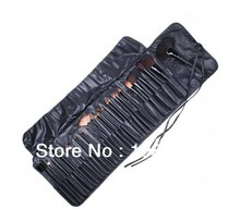 Wholesale 32 PCS Professional Makeup Brush Cosmetic Beauty Make up Brush set+ Black Pouch Bag Leather Case 32pcs