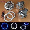 3 0 Kioto HID Bi xenon Projector Lens Headlight Retrofit Lenses Kit Q5 With LED Angel