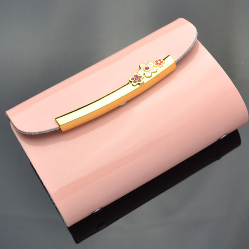 New high quality pu leather card case business card holder for Women business card holder