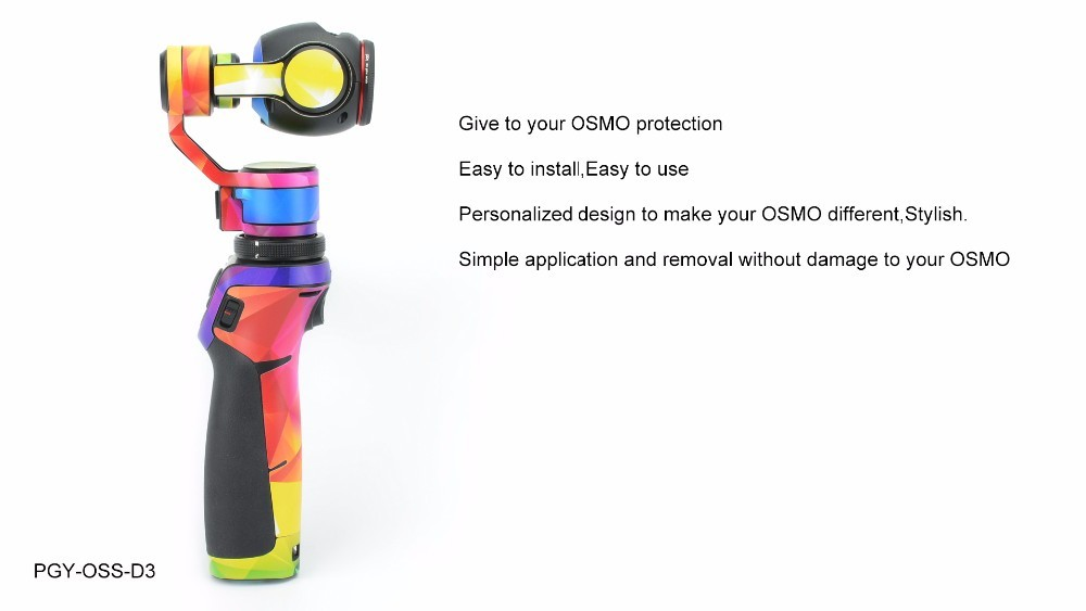 PGY-OSS-D3 PVC Skin Decal Sticker DJI OSMO Handheld 3-Axis Gimbal X3 4K HD Camera accessories For DJI OSMO