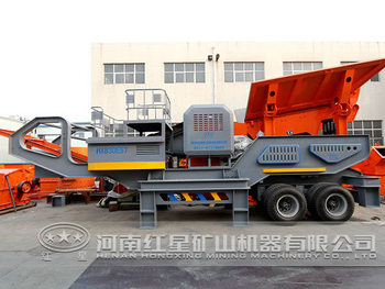 Trucked mobile crusher