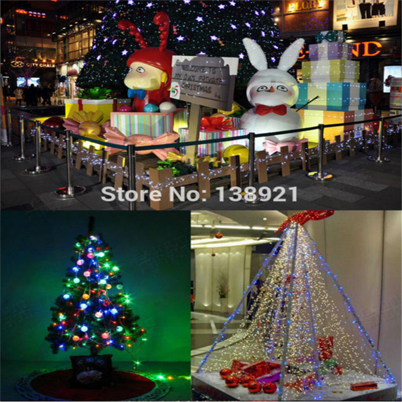 10M 80 LED Battery Operated LED String Lights for Xmas Garland Party Wedding Decoration Christmas Flasher Fairy Lights(China (Mainland))