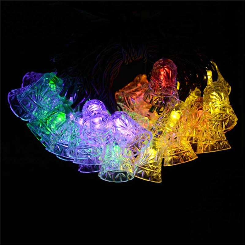 40 LED 25ft 8 Modes Bell Solar Christmas Solar Lamp Waterproof Led Outdoor Lighting Novelty Decorative Fairy String Light(China (Mainland))