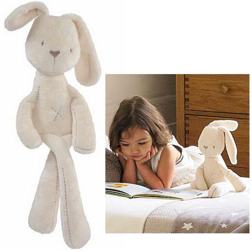 Мамы и папы милый кролик мягкие плюшевые игрушки Brinquedos 50 см белый самая низкая цена лучший подарок для детей NTP001E