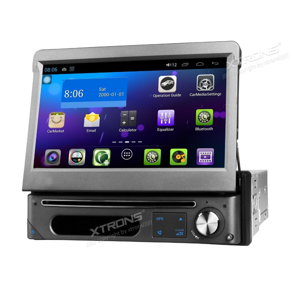 "New Arrival! XTRONS 1080P HD Multi-touch Screen Pure Android 4.1 Single Din 7"" Detachable Car Stereo DVD Player GPS Wifi Radio(China (Mainland))"
