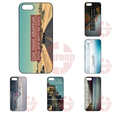 Plastic Cover Case Best Adventure Travel Quotes Apple iPhone 4 4S 5 5C SE 6 6S 7 7S Plus 4.7 5.5 iPod Touch - Top 10 Cases Store store