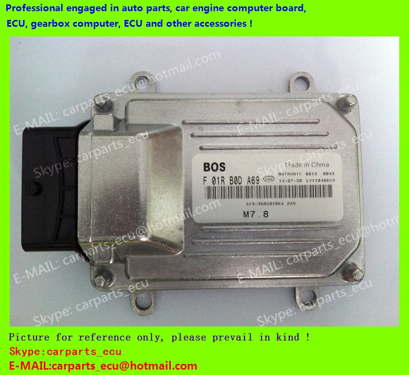 For Chery Fulwin car engine computer board/ECU/ Electronic Control Unit/Car PC/ F01RB0DA69 A13-3605010KA 2AN / driving computer(China (Mainland))
