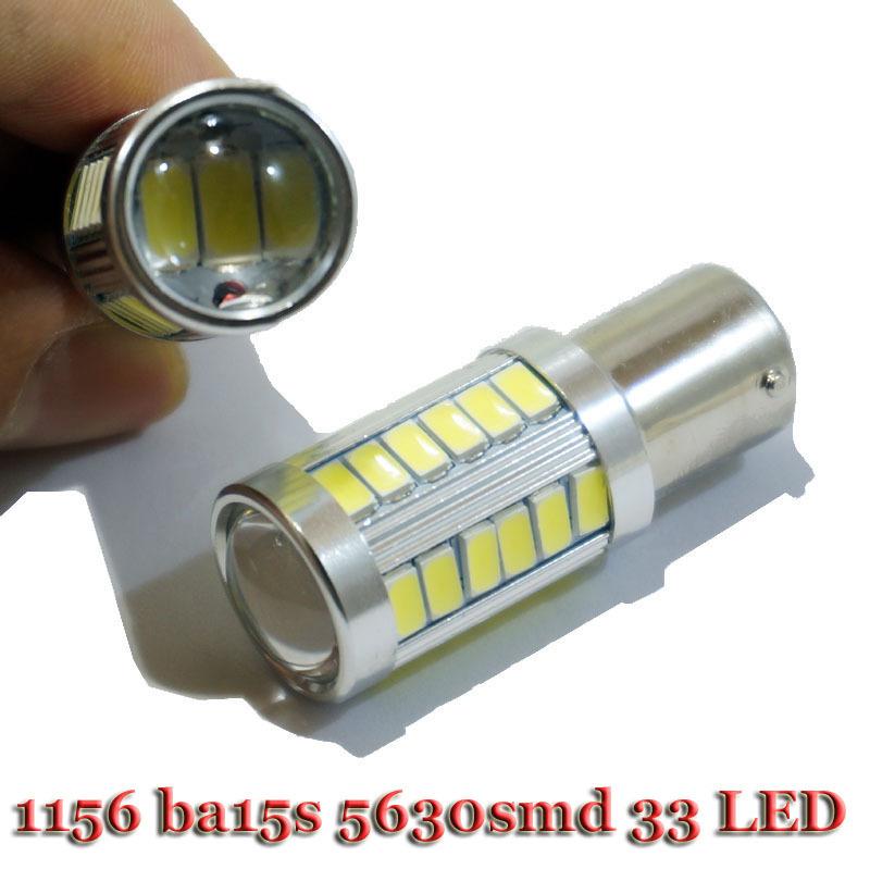 2X 1156 5630 33SMD LED Car Rear Light Tail Light smd 5630 33 leds Super Bright BA15S Light White Turn Light Bulb(China (Mainland))