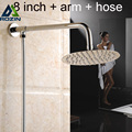 Chrome Finished Ultrathin 8 Brass Shower Head Shower Arm holder 59 Shower Hose