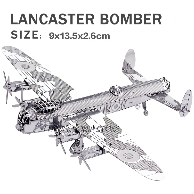 New creative Cool Bomber 3D metal model 3D puzzles Lancaster bomber Jigsaws Creative DIY Adult/Children gifts toys DIY(China (Mainland))